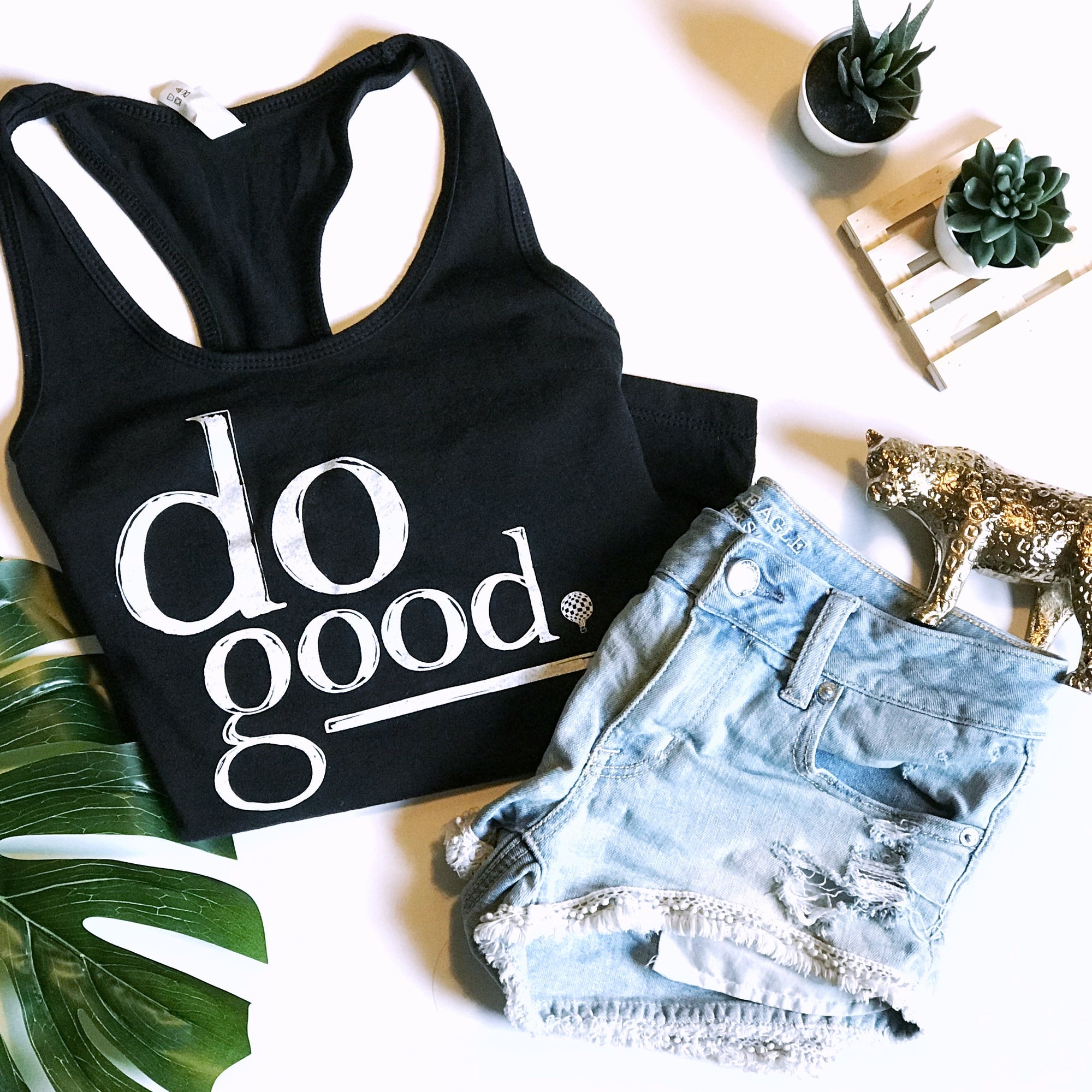 DO GOOD | women tank | black