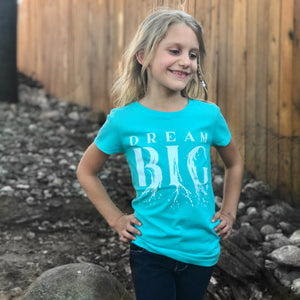 DREAM BIG | girls tshirt | tahiti blue
