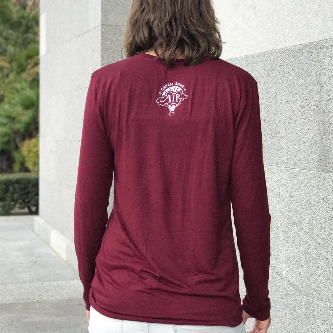 """FIND HOPE IN EVERYTHING"" long sleeve crew/burgundy"