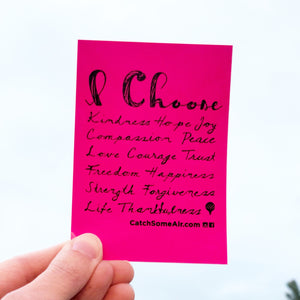 I CHOOSE... | sticker