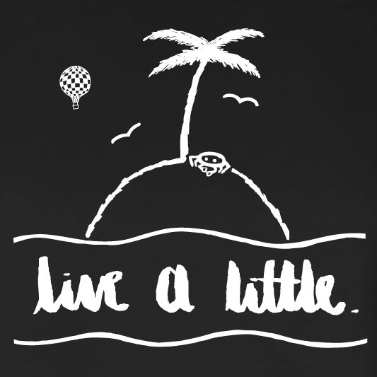 """LIVE A LITTLE"" by #TeamMaddy crop tee"