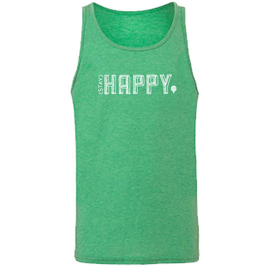 """STAY HAPPY"" tank/green"
