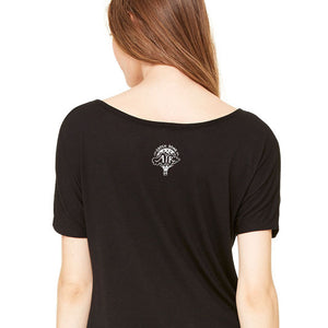 BE KIND | women premium slouchy tee | black
