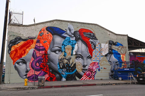 tristan eaton Los Angeles Street graffiti art at The Container Yards, downtown Los Angeles