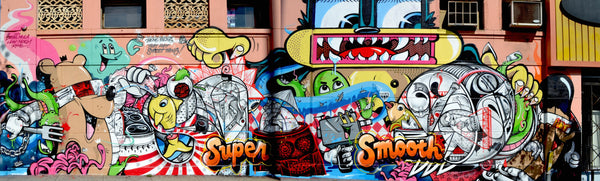 dabs Myla graffiti collaboration in los angeles @SHopREdCar7