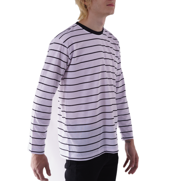 LONG SLEEVE KNIT T - PENCIL STRIPE