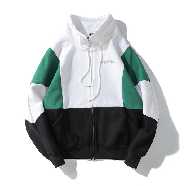 """BATWING"" COLORBLOCK ZIP UP SWEATSHIRT - www.ShopRedCar7.com"