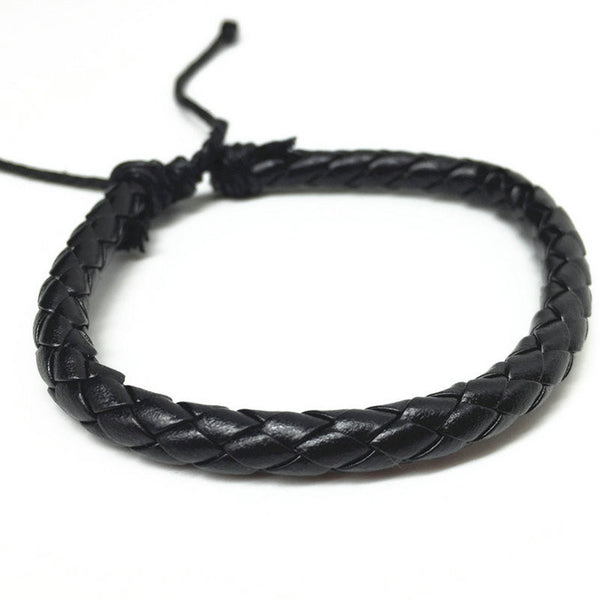 R7C Zuma Classic Leather Braided Bracelet  - Accessories - www.ShopRedCar7.com