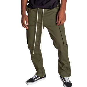 STRETCH COTTON CARGO PANTS - ARMY - www.ShopRedCar7.com