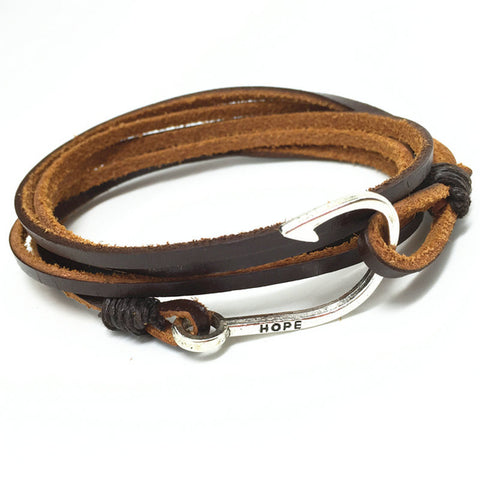 R7C Ballona Creek Leather Bracelet  - Accessories - www.ShopRedCar7.com