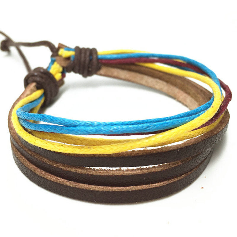 R7C Little Dume Leather Wrap Bracelet - Accessories - www.ShopRedCar7.com