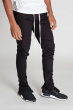 Load image into Gallery viewer, SKINNY STRETCH TWILL JOGGER PANT - BLACK - www.ShopRedCar7.com