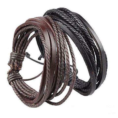 R7C Waidroka Leather Wrap Bracelet - Accessories - www.ShopRedCar7.com
