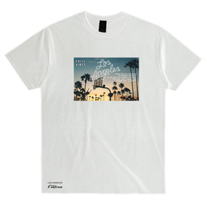 """LOS ANGELES DREAMIN'"" BOX CREW TEE - WHITE - www.ShopRedCar7.com"
