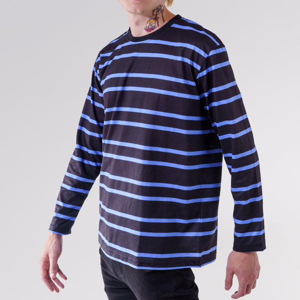 LONG SLEEVE RUGBY TOP - NAVY/ROYAL