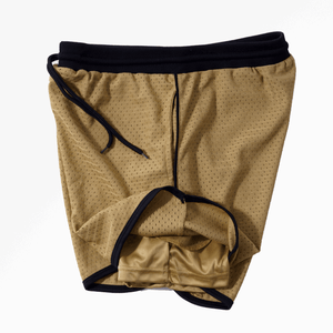 DRI-FIT MESH BASKETBALL SHORTS - OLD GOLD
