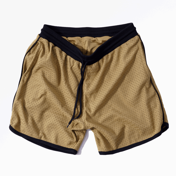 MESH BASKETBALL SHORTS - OLD GOLD