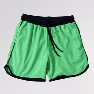 MESH BASKETBALL SHORTS - SAFETY GREEN