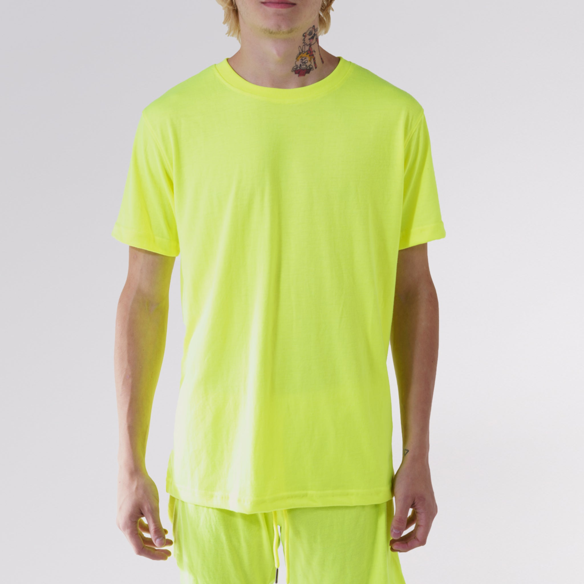 """NEW FIT"" ESSENTIAL TEE - YELLOW HIGHLIGHTER"