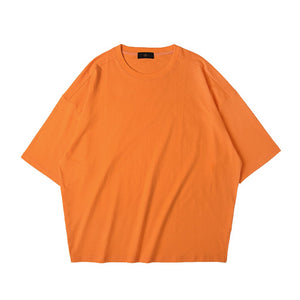 SHORT FIT STRETCH COTTON TEE - OJ - www.ShopRedCar7.com