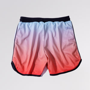 DRI-FIT MESH BASKETBALL SHORTS - RED GRADIENT
