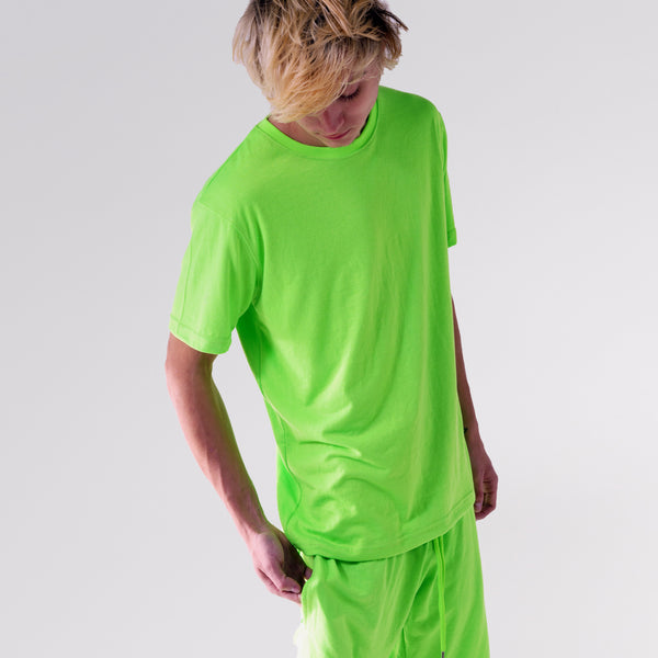"""NEW FIT"" ESSENTIAL TEE - SAFETY GREEN"