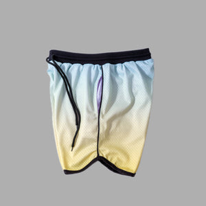 DRI-FIT MESH BASKETBALL SHORTS - YELLOW GRADIENT