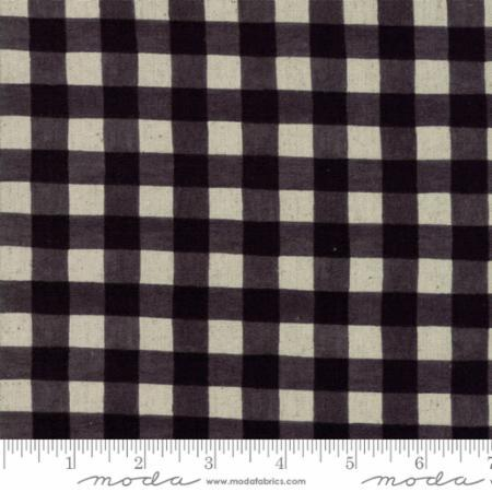 Gingham in Black (LINEN)