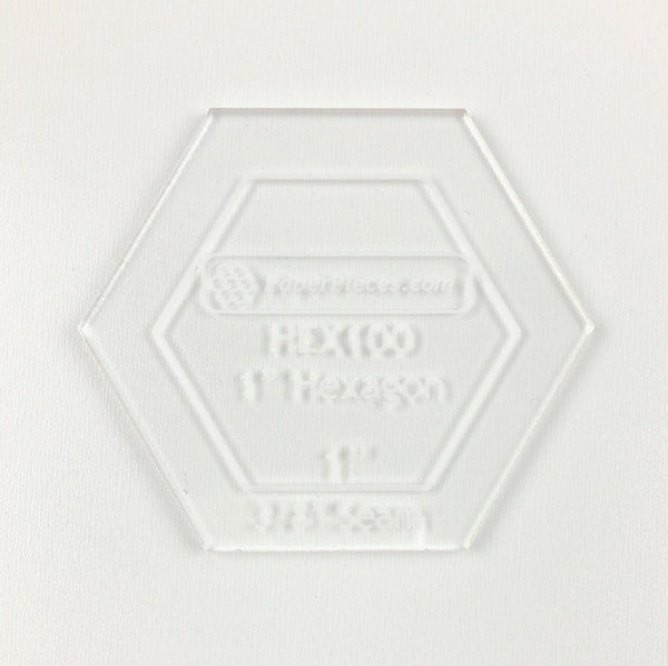 "1"" Hexagon Acrylic Template"