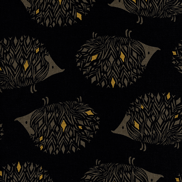 Prickles in Black (METALLIC CANVAS)