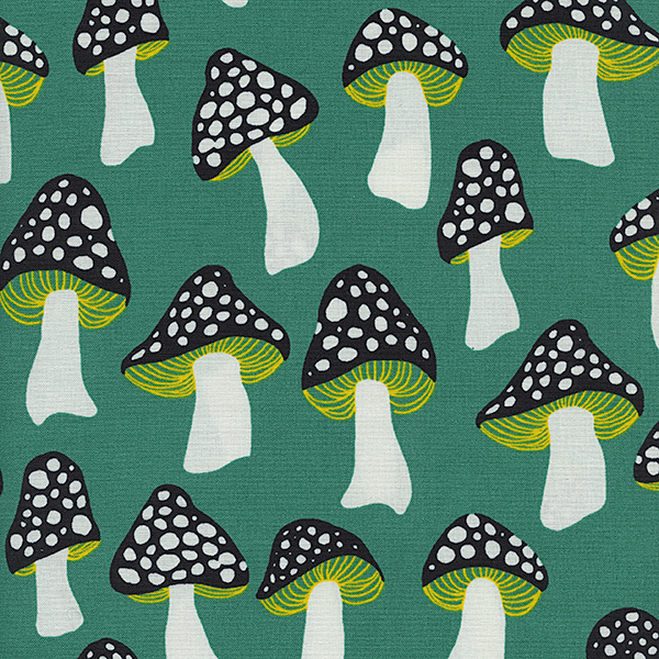 Mushrooms in Green