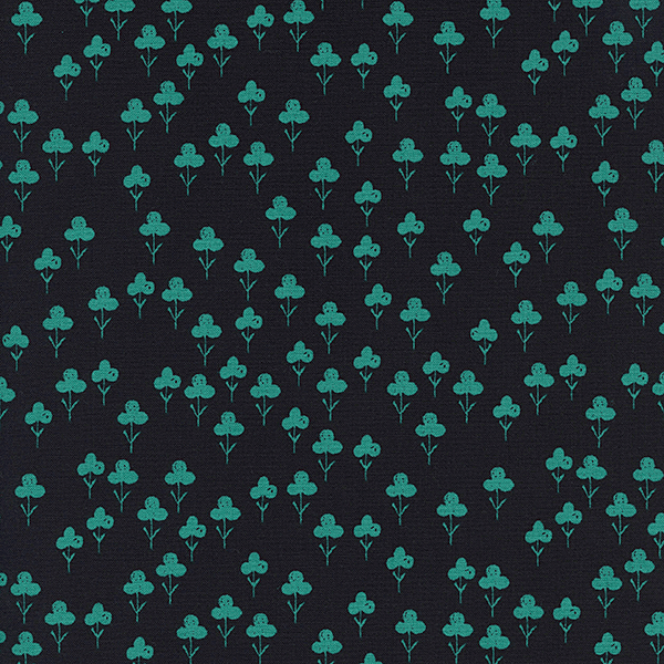 Clovers in Teal