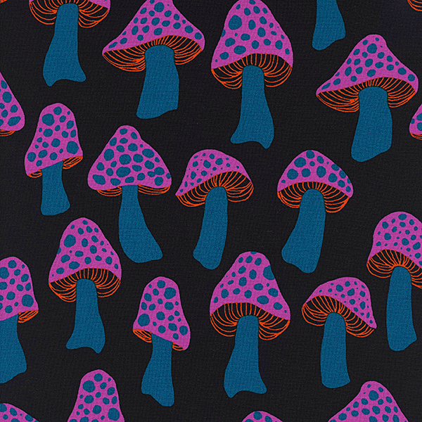 Mushrooms in Glowy Blue (RAYON)