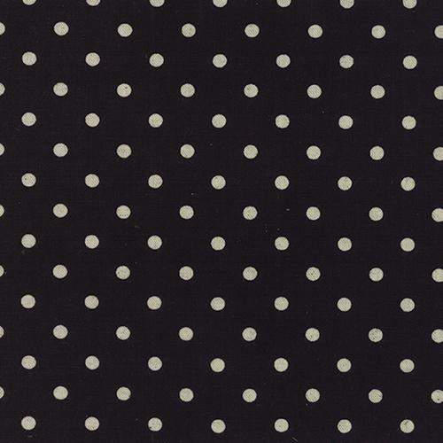 Mochi Dot in Black (LINEN)