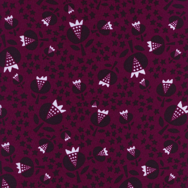 Thistle in Cerise (RAYON)