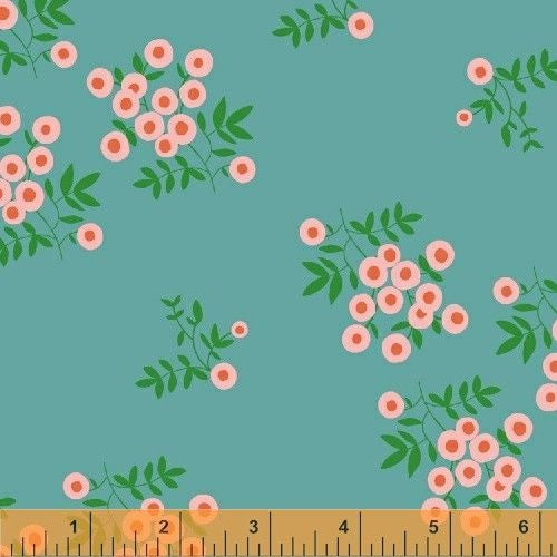 Dot Floral in Turquoise