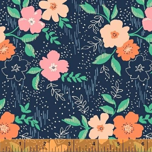 Sweet Floral in Navy