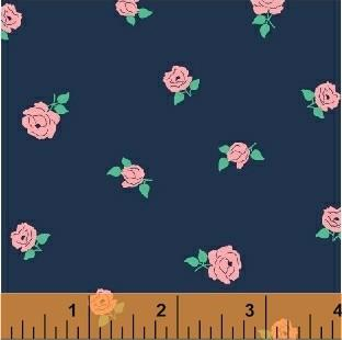 Tiny Rose in Navy