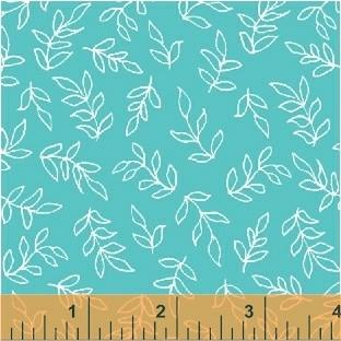 Scribble Leaves in Turquoise
