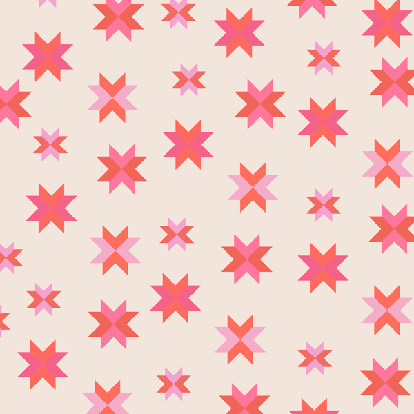 Quilt Block in Coral