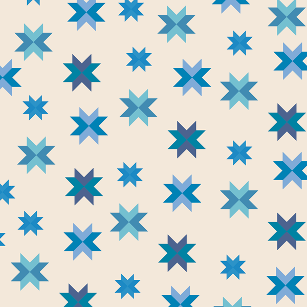 Quilt Block in Royal