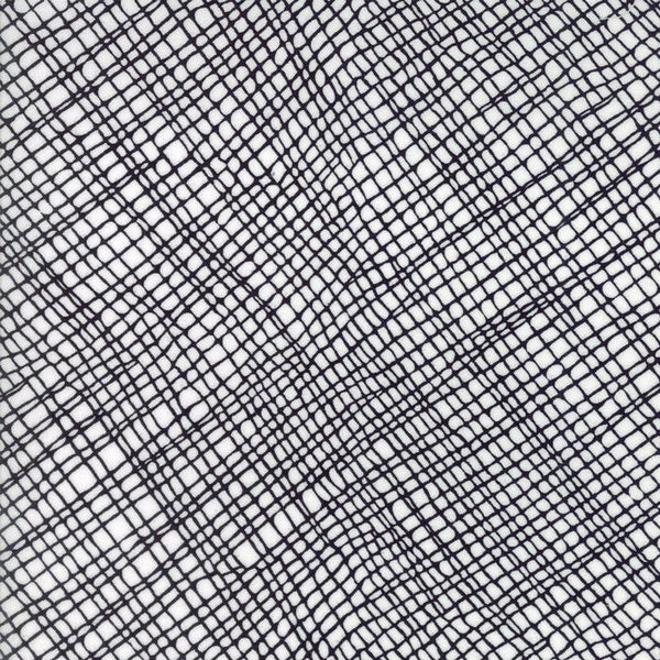 Crosshatch in White/Black