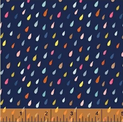 Rain Drops in Navy