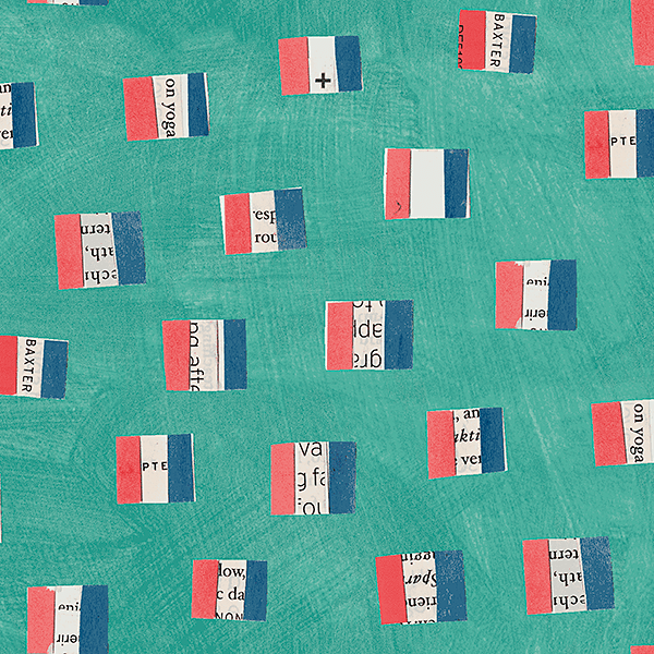 French Flags in Aqua