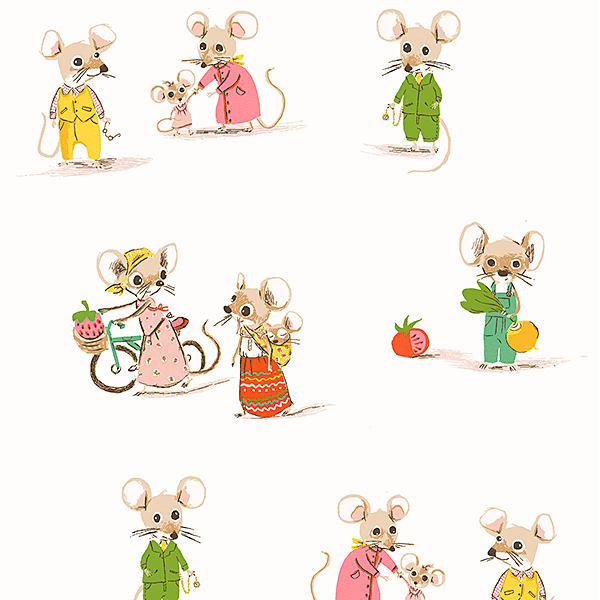 Country Mouse, City Mouse in White