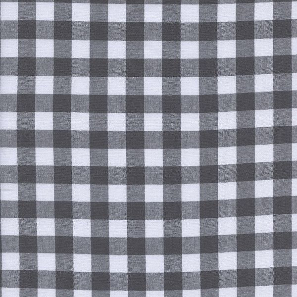 "1/2"" Gingham in Chalkboard"