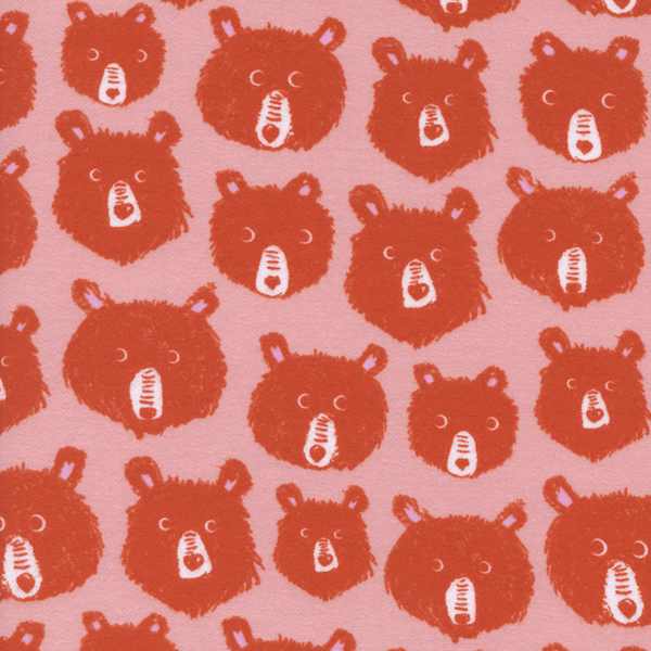 Teddy and the Bears in Pink (BRUSHED COTTON)