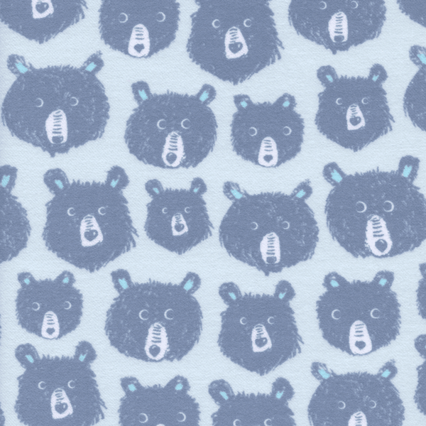 Teddy and the Bears in Blue (BRUSHED COTTON)