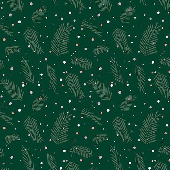 Pine Dots in Green