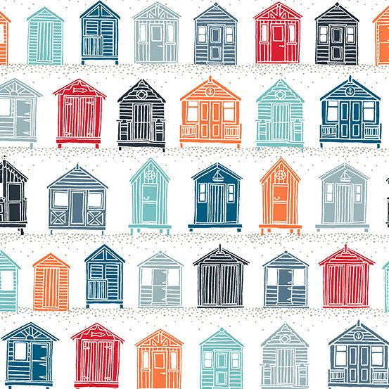 Beach Huts in White